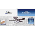 Home Impressions Studio 42 In. Brushed Nickel Ceiling Fan with Light Kit Image 2