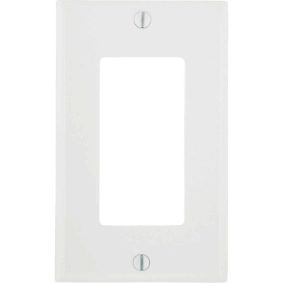 Leviton Decora 1-Gang Smooth Plastic Rocker Decorator Wall Plate, White