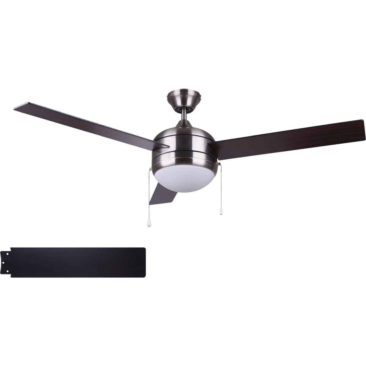 Home Impressions Sardiac 52 In. Brushed Nickel Outdoor Ceiling Fan with Light Kit Image 1