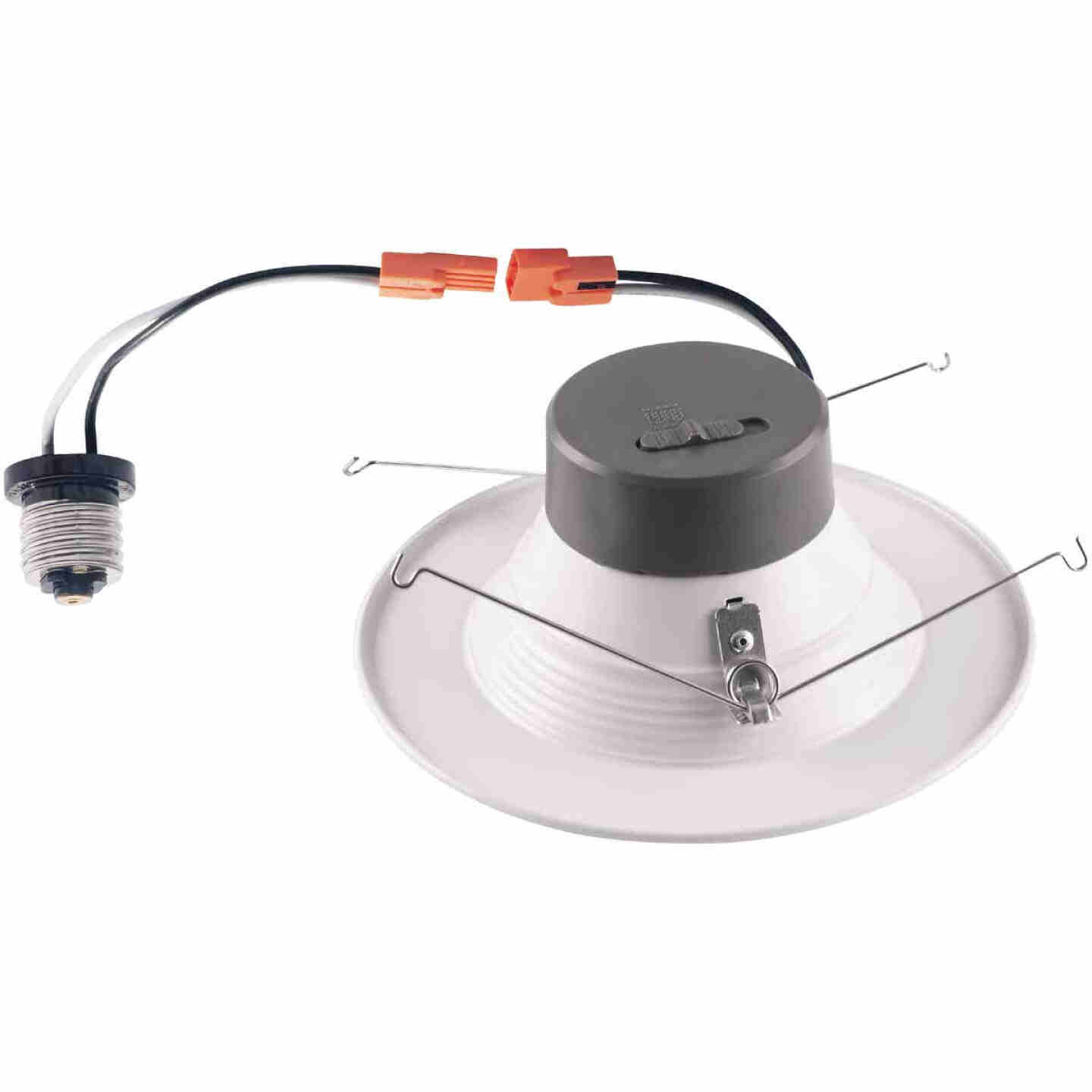 5 In./6 In. Retrofit IC Rated White LED CCT Tunable Down Light with Baffle Trim Image 5