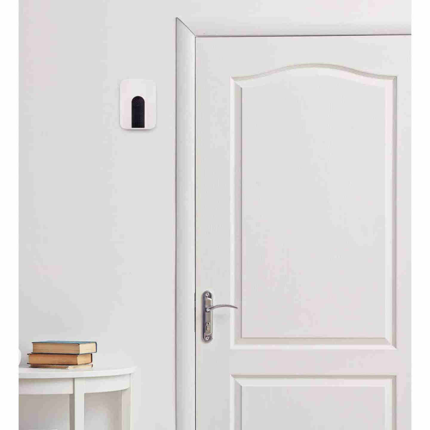 Heath Zenith Battery Operated White with Black accent Wireless Door Chime Image 2