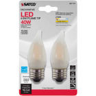 Satco Nuvo 40W Equivalent Warm White Frosted CA10 Medium LED Decorative Light Bulb (2-Pack) Image 2