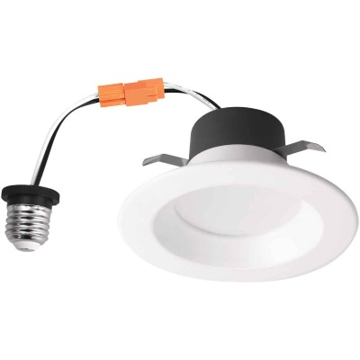 4 In. Retrofit IC Rated White LED CCT Tunable Down Light with Smooth Trim