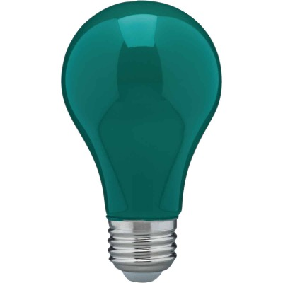 Satco Nuvo 60W Equivalent Green A19 Medium LED Party Light Bulb