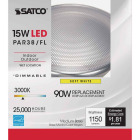 Satco Nuvo 90W Equivalent Warm White PAR38 Medium Dimmable LED Floodlight Light Bulb Image 2