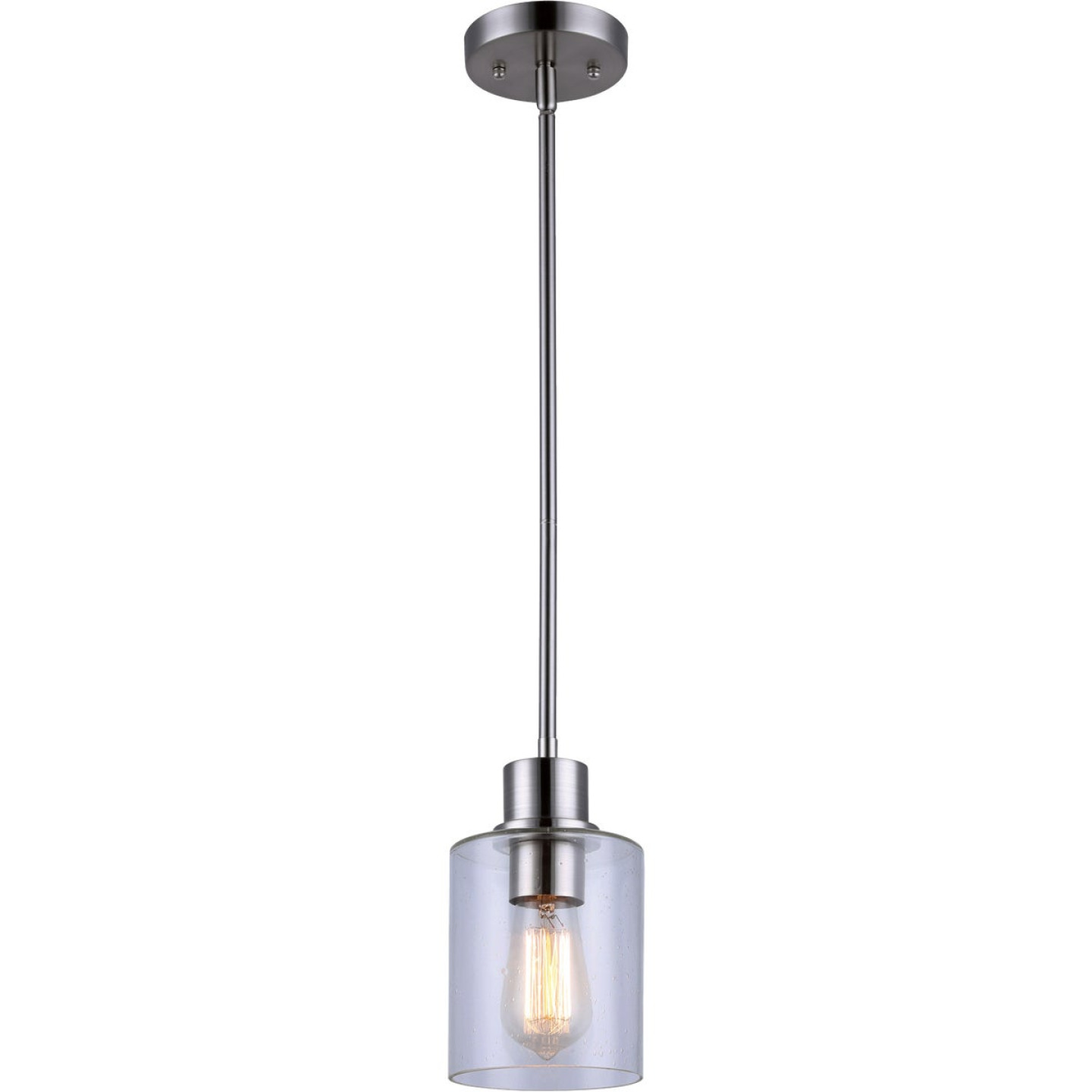 Home Impressions Portland 1-Bulb Brushed Nickel Incandescent Pendant Light Fixture Image 1