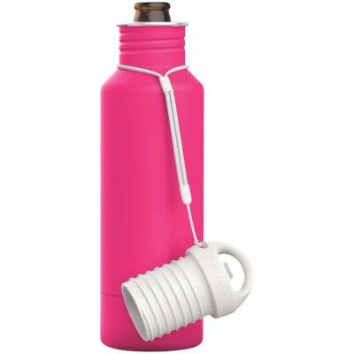BottleKeeper 12 Oz. Pink Sorbet Stainless Steel Insulated Drink Holder