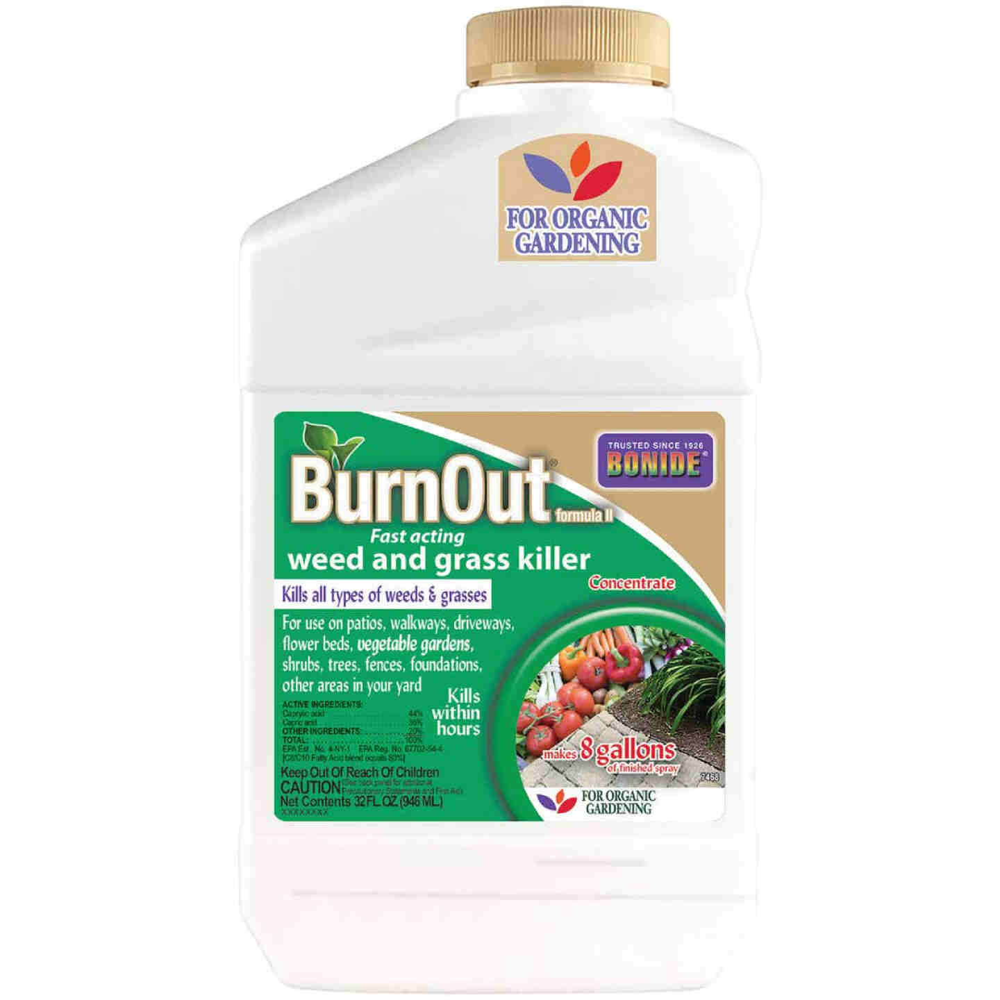 Bonide BurnOut Formula II 32 Oz. Concentrate Weed & Grass Killer Image 1