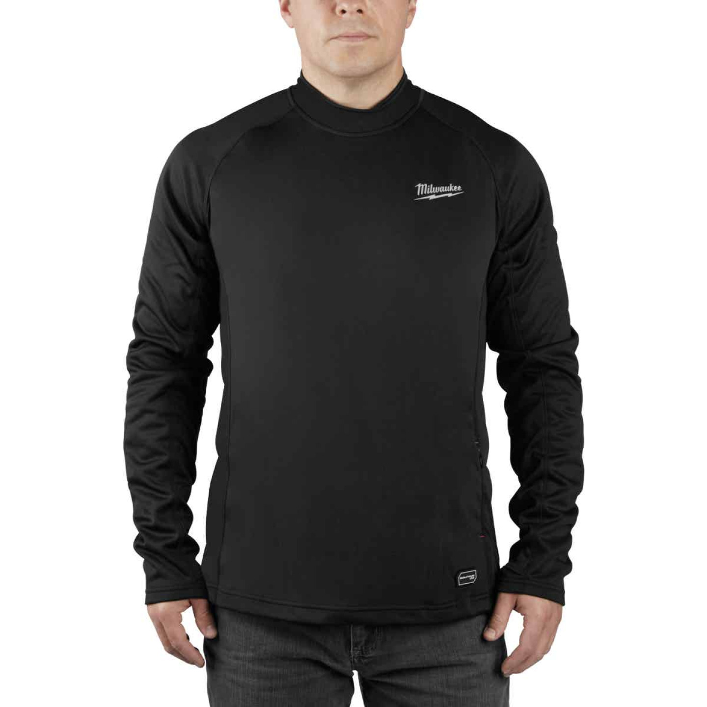 Milwaukee Workskin XL Black Heated Midweight Base Layer Shirt Image 1