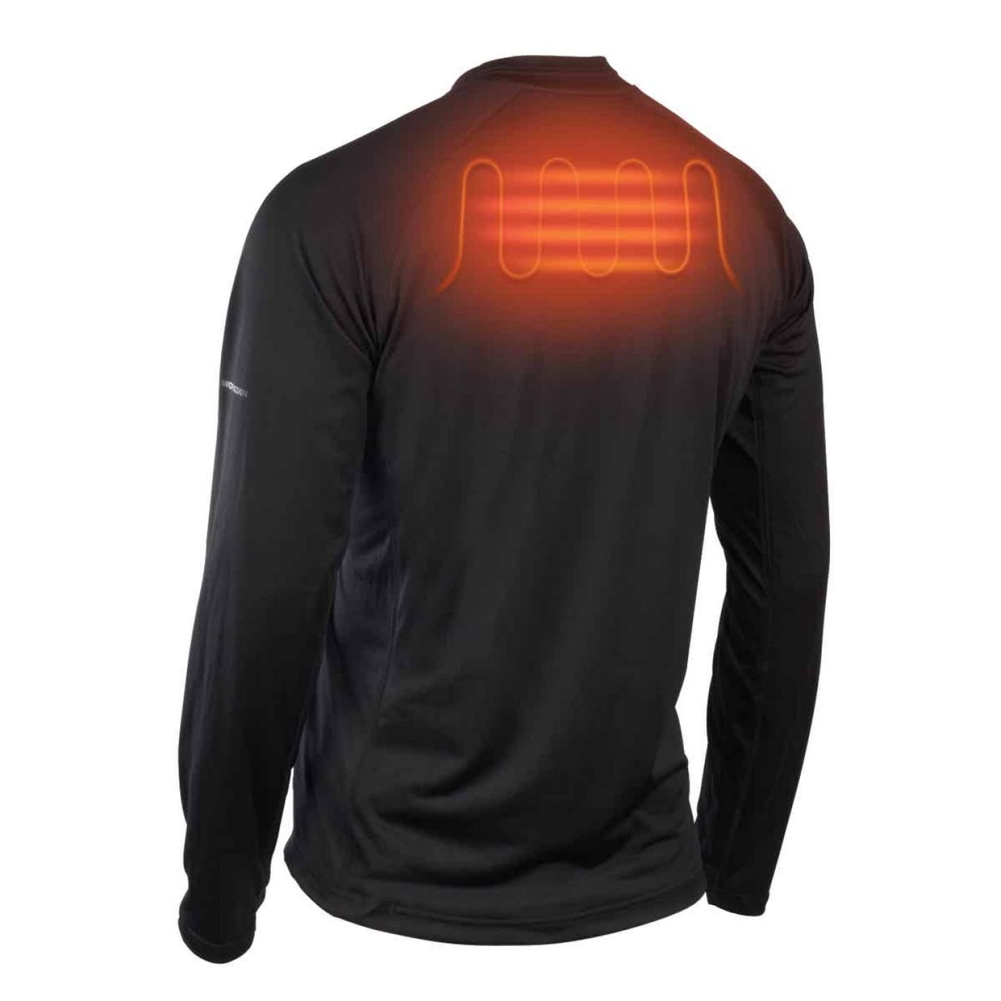 Milwaukee Workskin XL Black Heated Midweight Base Layer Shirt Image 9