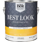 Best Look Latex Paint & Primer In One Eggshell Interior Wall Paint, Ultra White, 1 Gal. Image 1