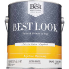 Best Look Latex Paint & Primer In One Eggshell Interior Wall Paint, Ultra White, 1 Gal. Image 2