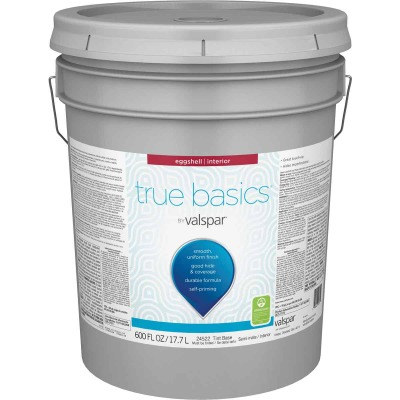 True Basics by Valspar Eggshell Interior Paint, 5 Gal. Tint Base