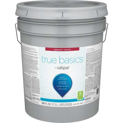 True Basics by Valspar Eggshell Interior Paint, 5 Gal. Clear Base