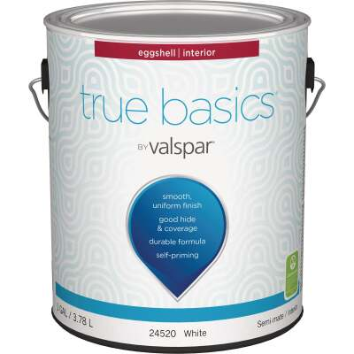 True Basics by Valspar Eggshell Interior Wall Paint, 1 Gal., White