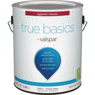 True Basics by Valspar Eggshell Interior Wall Paint, 1 Gal., Pastel Base