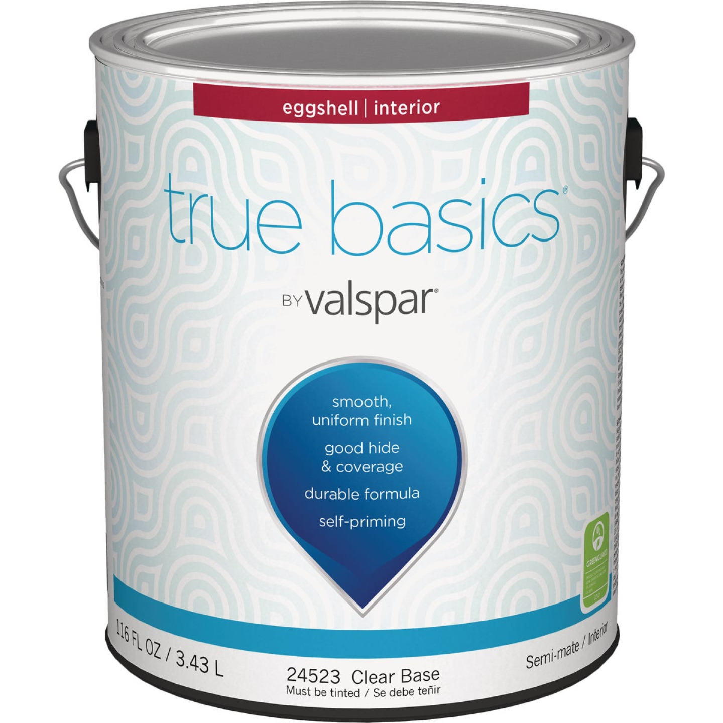 True Basics by Valspar Eggshell Interior Wall Paint, 1 Gal., Clear Base Image 1