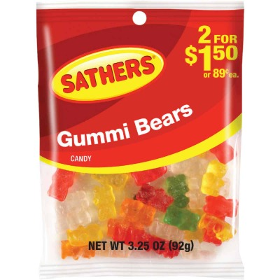 Gurley's Assorted Fruit Flavors 3 Oz. Gummy Bears